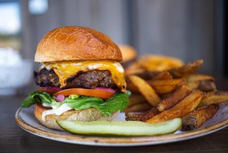 A burger at Farm 12 in Puyallup