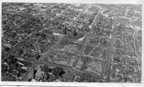 Arial View of Cheyenne, Wyoming, circa 1930