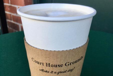 Court House Grounds latte (Photo courtesy of the Court House Grounds Facebook page)