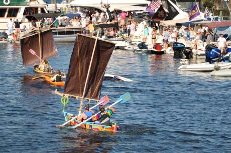 The Quick 'n Dirty Boatbuilding Race at The Wooden Boat Festival in Madisonville