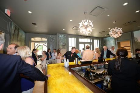 Guests gathering at The Cypress Bar