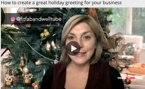 A screenshot from a video about creating a holiday greeting