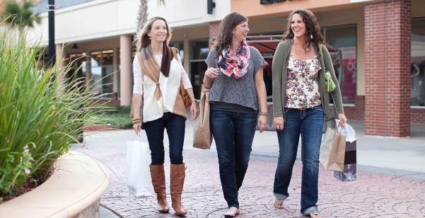 Shopping at Tanger Outlets