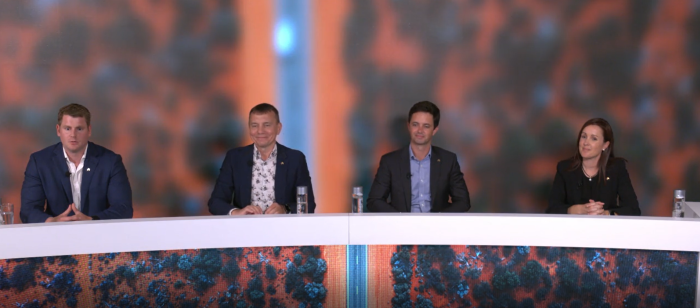 A panel of experts bidding for an international conference via a live stream studio