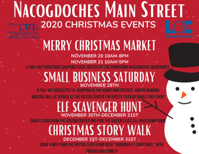 Nacogdoches Main Street 2020 Christmas Events