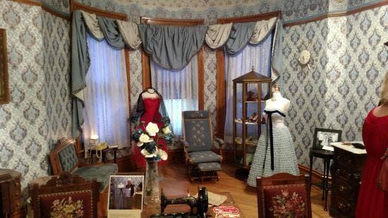 Exhibit inside the Ivinson Mansion