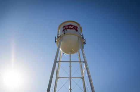 Looking up at the Frisco Water Tower