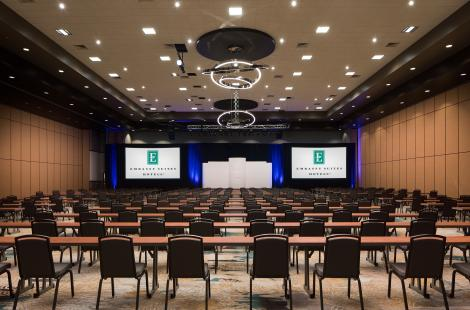 Meeting room set up at Embassy Suites Frisco