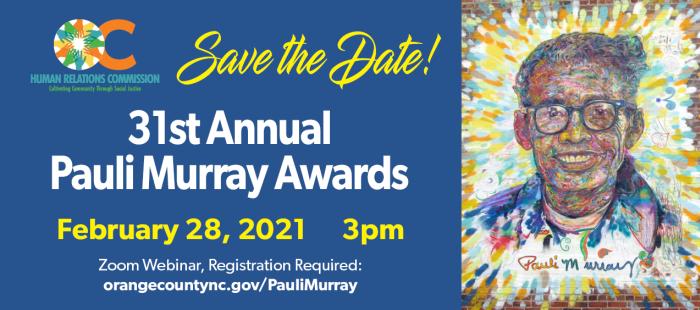 31st Annual Pauli Murray Awards Event Banner