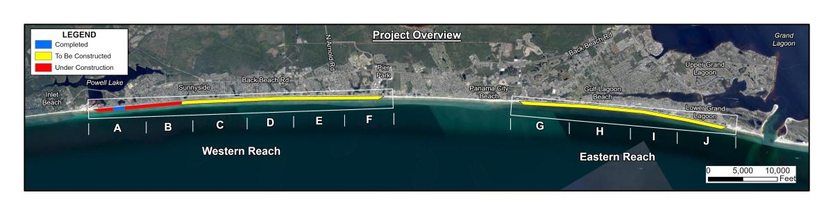 Beach Renourisnment overview map updated 9.21.21