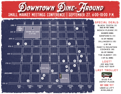 Dine Around Map