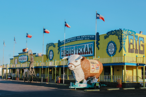exterior photo of the big texan