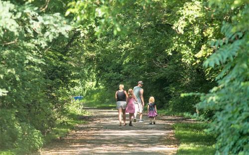 Family Hiking Ohio River Greenway