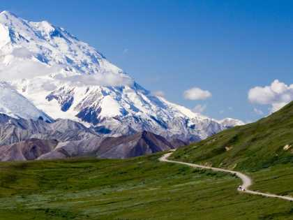 Denali National Park scenery in summer