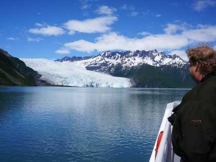 Glacier views from a day cruise in Kenai Fjords National Park.