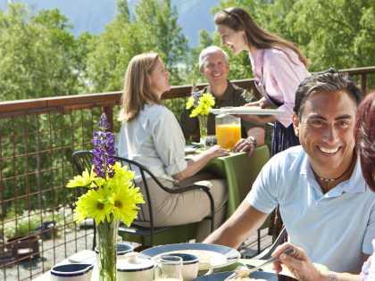 Girdwood outdoor dining at Jack Sprat near Anchorage