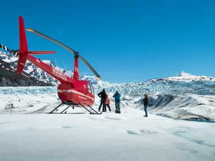 Glacier landing flightseeing tour from Anchorage Alaska
