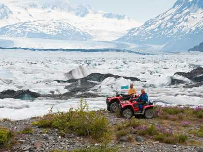 Knik Glacier ATV tour near Anchorage in the Chugach