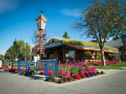 Anchorage log cabin visitor center