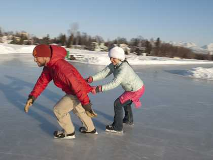 Anchorage Ice skating on Westchester Lagoon