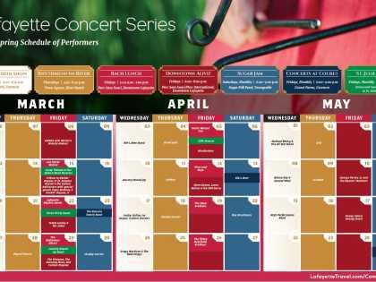 2019 Spring Concert Series Schedule