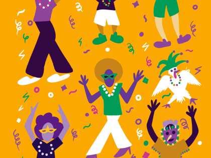 2020 Lafayette Mardi Gras Brochure Cover Art