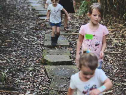 Children enjoy a day of exploration at Jungle Gardens on Avery Island