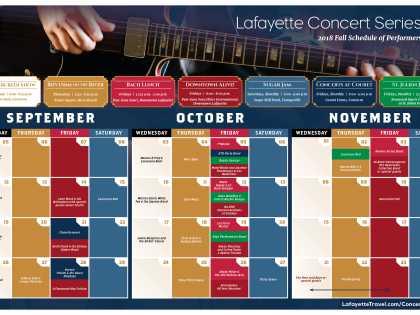 Fall Concert Series Calendar