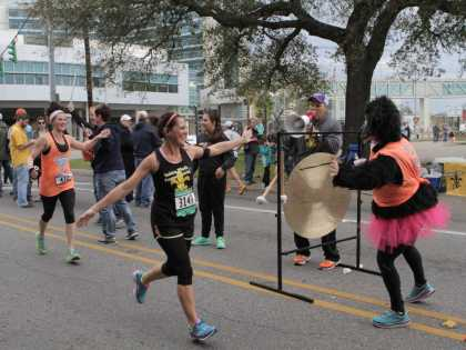Runners completing Zydeco Marathon