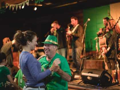 Celtic Bayou Festival Band On Stage