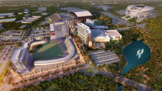 Arlington Entertainment District Aerial