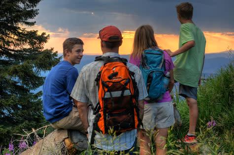 Family Hiking at Steamboat Resort
