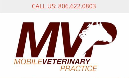 MVP mobile Vet logo and phone number