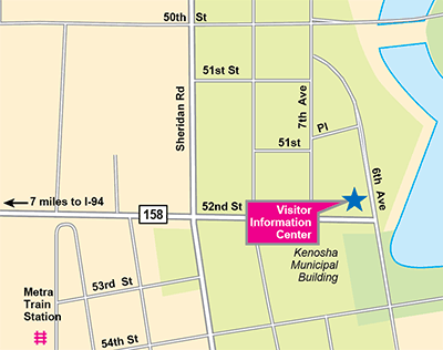 Downtown Visitor Information Center-Main Office map