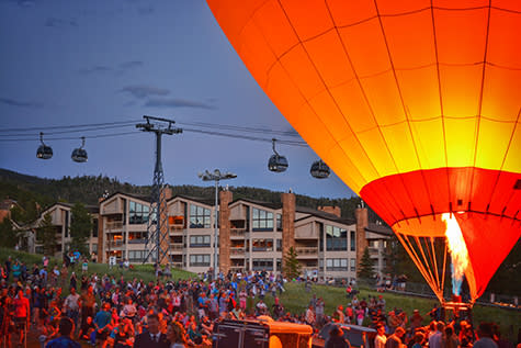 Hot Air Balloon Glow Steamboat Springs