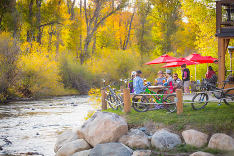 Unwind with dinner and drinks along the Yampa River