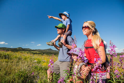 Family Hiking Steamboat Springs