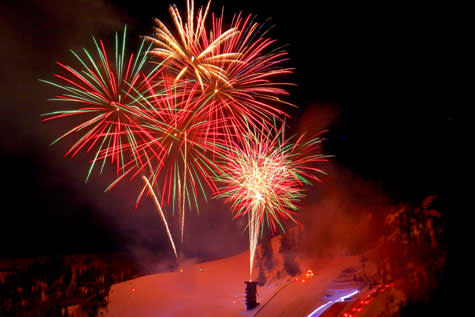 Fireworks Display at the annual Steamboat Springs Winter Carnival