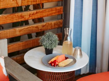 Marriott Irvine Spectrum Fruit Platter and Champagne Cabana