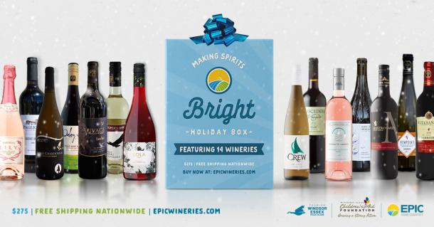 Gift box from EPIC wines