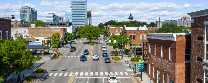 Drone photography on Gervais Street
