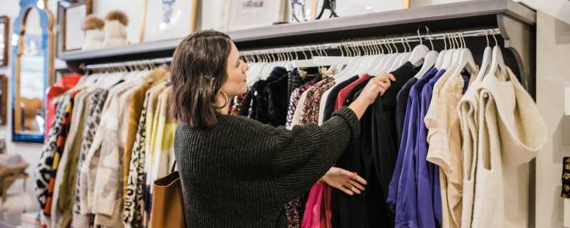 Woman Shopping for Clothing