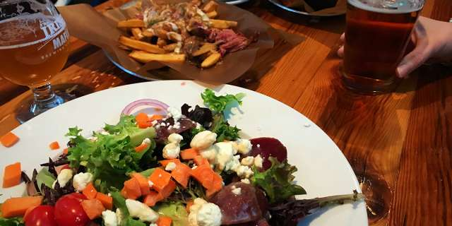 Irish Mafia beet and goat cheese salad
