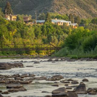 Animas River from Memorial Park, Durango, CO