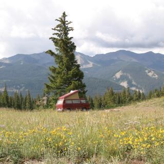Camper Van in La Plata Mountains, Durango, CO