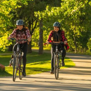 Bike Riding on the Animas River Trail, Durango, CO