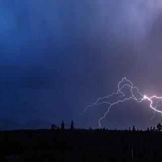 Lightning Near West Durango, Colorado