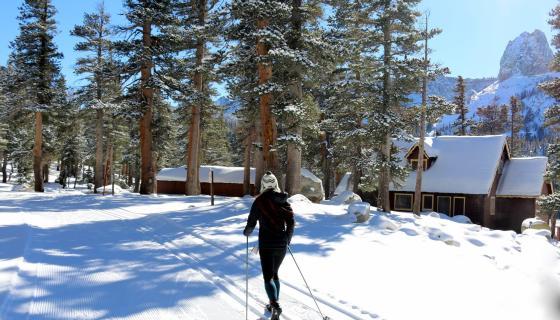 cross country skiing at Tamarack