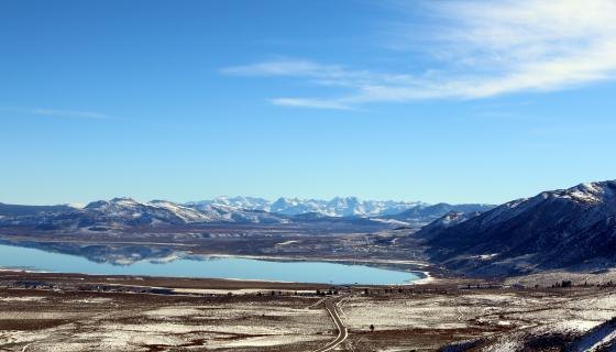 Mono Lake Vista winter