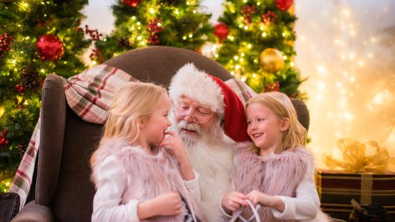 Kids on Santa's Lap at City Creek Center